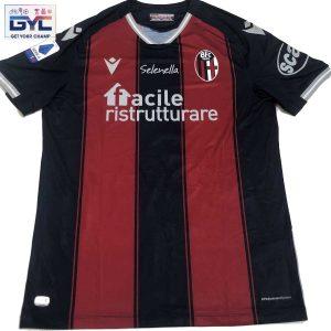 """Riccardo Orsolini – maglia autografata ufficiale """"home"""" Bologna Fc. Patch Serie A"""
