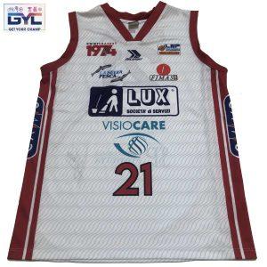 Alessandro Piazza – canotta ufficiale gara home Lux Chieti autografata ed indossata nella stagione 2020/2021