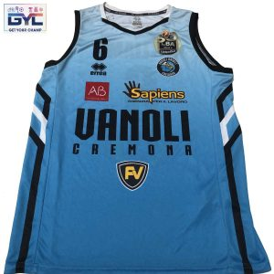 T. J. Williams – canotta ufficiale gara cyano Vanoli Cremona autografata ed indossata nella stagione 2020/2021