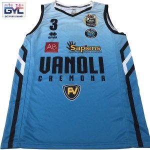 Jarvis Williams – canotta ufficiale gara cyano Vanoli Cremona autografata ed indossata nella stagione 2020/2021